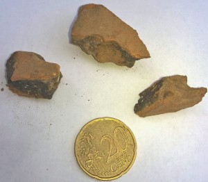 Een snelle foto van de protohistorische scherf